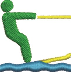 Water Skiier embroidery design