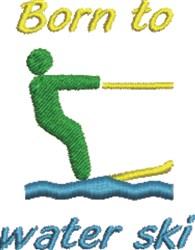 Born To Water Ski embroidery design
