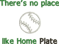 Home Plate embroidery design