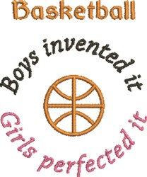 Boys Invented Basketball embroidery design