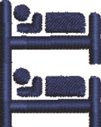 Bunk Beds embroidery design