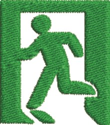 Exit embroidery design