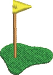 Golf Hole embroidery design