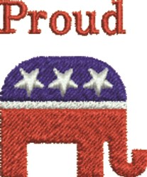 GOP Proud embroidery design