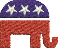 Republican Symbol embroidery design