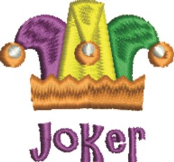 Joker Hat embroidery design
