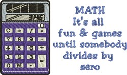 Math Games embroidery design