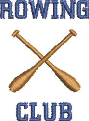 Rowing Club embroidery design