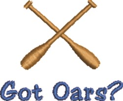 Got Oars embroidery design
