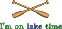 On Lake Time embroidery design