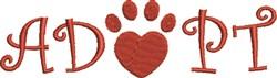 Adopt Pet embroidery design