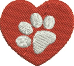Paw Heart embroidery design