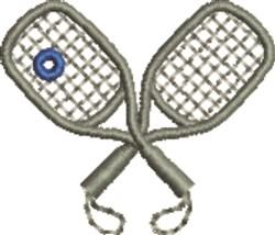 Racquetball embroidery design