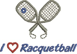 Love Racquetball embroidery design