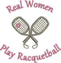 Play Racquetball embroidery design