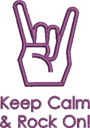 Keep Calm embroidery design