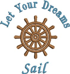 Let Dreams Sail embroidery design