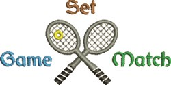 Tennis Game embroidery design