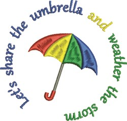 Share The Umbrella embroidery design