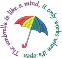 Open Umbrella embroidery design