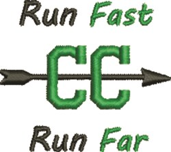 Run Fast embroidery design