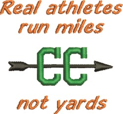 Run Miles embroidery design