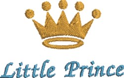 Little Prince Crown embroidery design