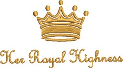 Her Royal Highness embroidery design