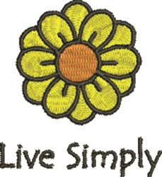 Live Simply embroidery design