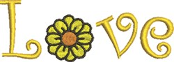 Love Daisy embroidery design