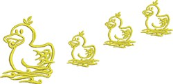 Duck Family embroidery design