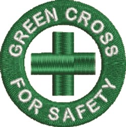 Green Cross embroidery design