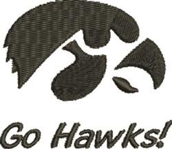Go Hawks embroidery design