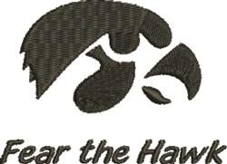 Fear The Hawk embroidery design