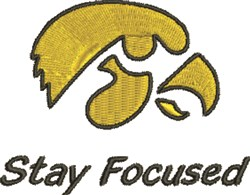 Stay Focused embroidery design