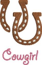 Cowgirl Horseshoe embroidery design