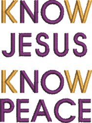 Know Peace embroidery design