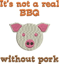 Not Real BBQ embroidery design