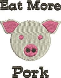 Eat More Pork embroidery design