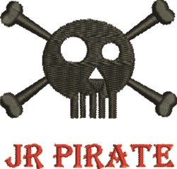 Jr Pirate embroidery design