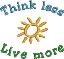Think Less embroidery design
