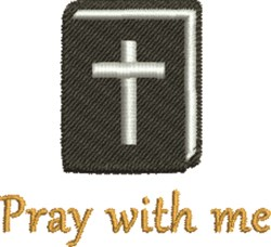 Pray With Me embroidery design