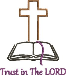 Trust The Lord embroidery design