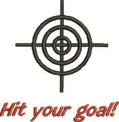 Hit Your Goal embroidery design