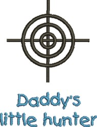 Daddys Hunter embroidery design
