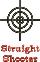 Straight Shooter embroidery design