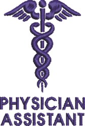 Physician Assistant embroidery design