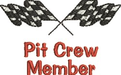 Pit Crew Member embroidery design