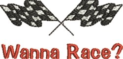 Wanna Race embroidery design