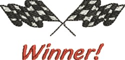 Winner Flags embroidery design